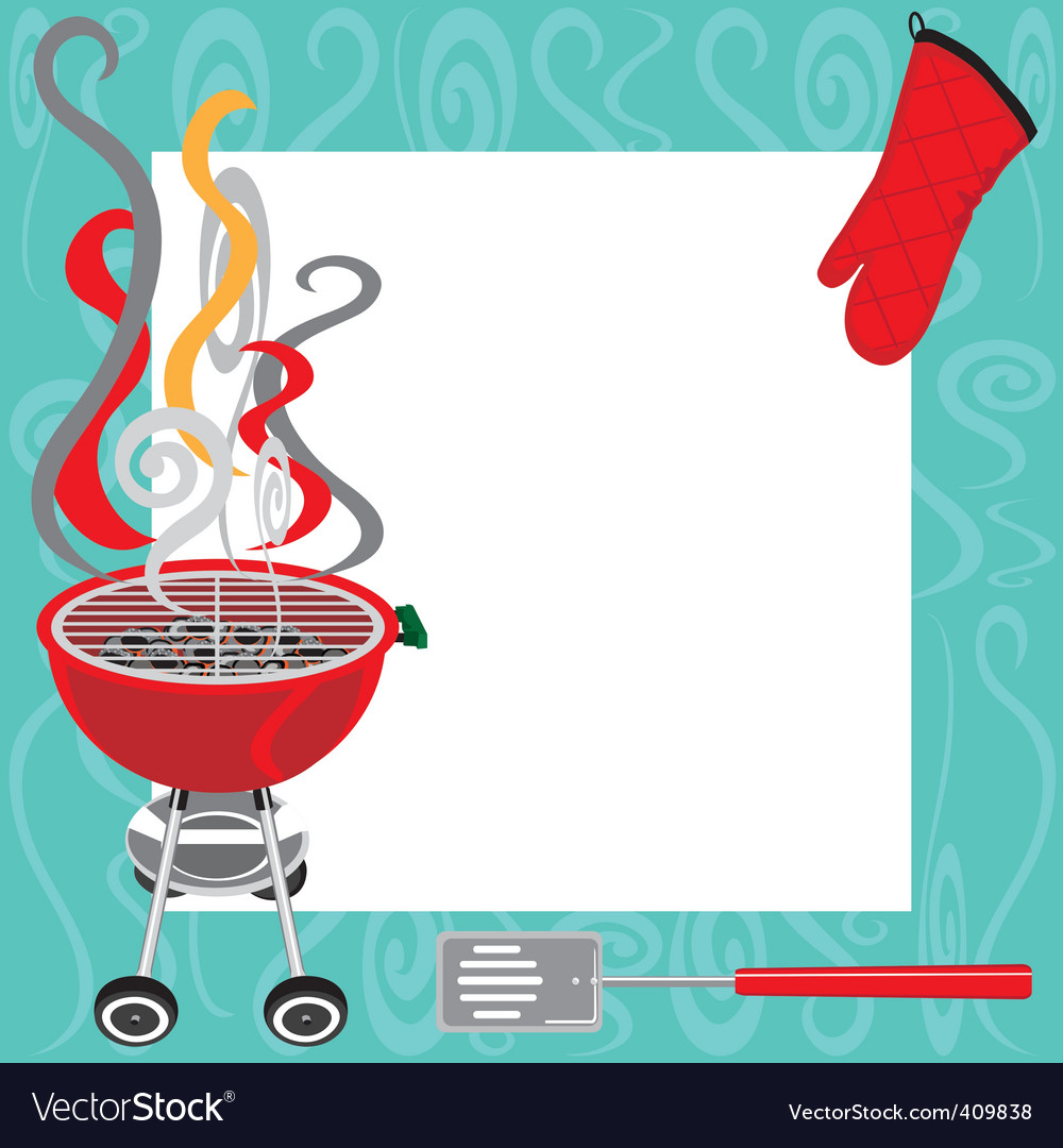 bbq party invitation royalty free vector image