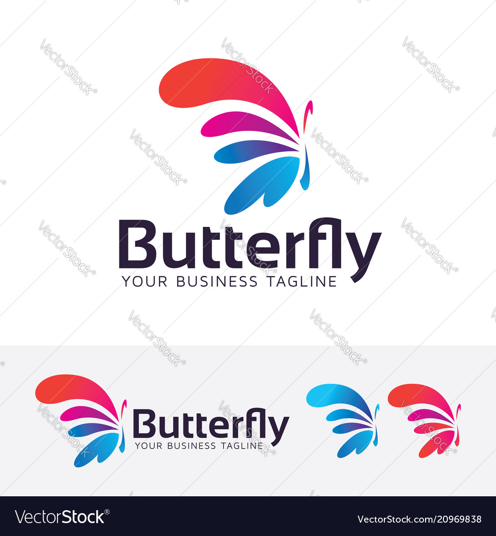 Butterfly entertainment logo design
