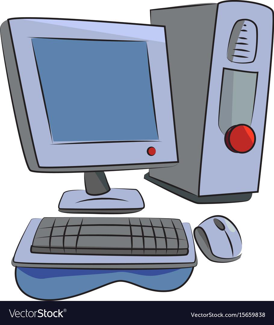 Cartoon image of computer icon pc symbol