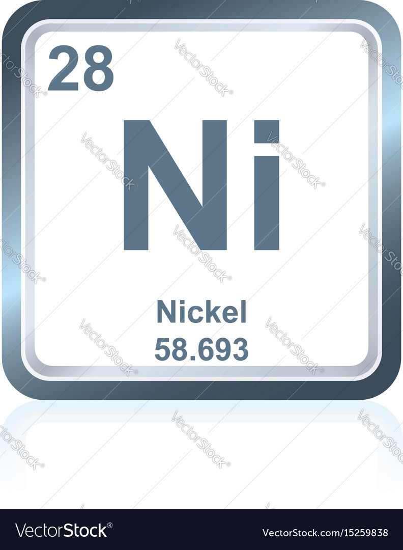 Chemical element nickel from the periodic table