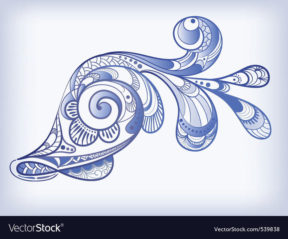 Fish illustration vector image