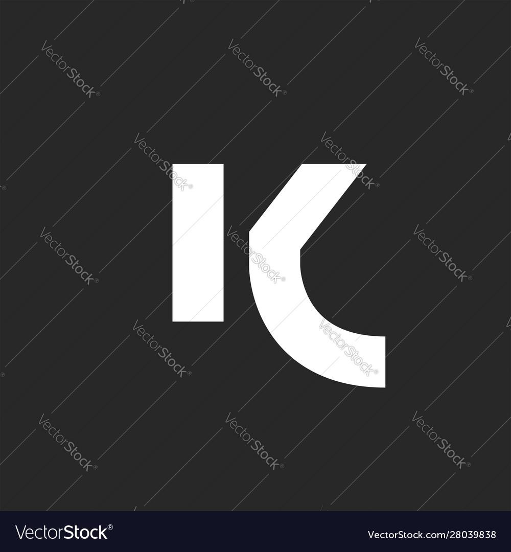 Letter k logo bold font monogram minimalist style