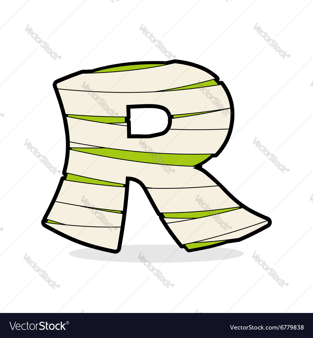 Letter R Monster zombie Alphabetical icon medical