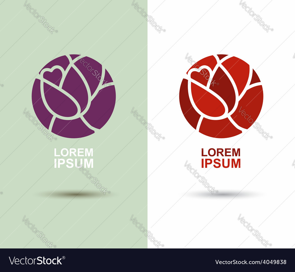 Logo Flower abstract icon design template Flourish