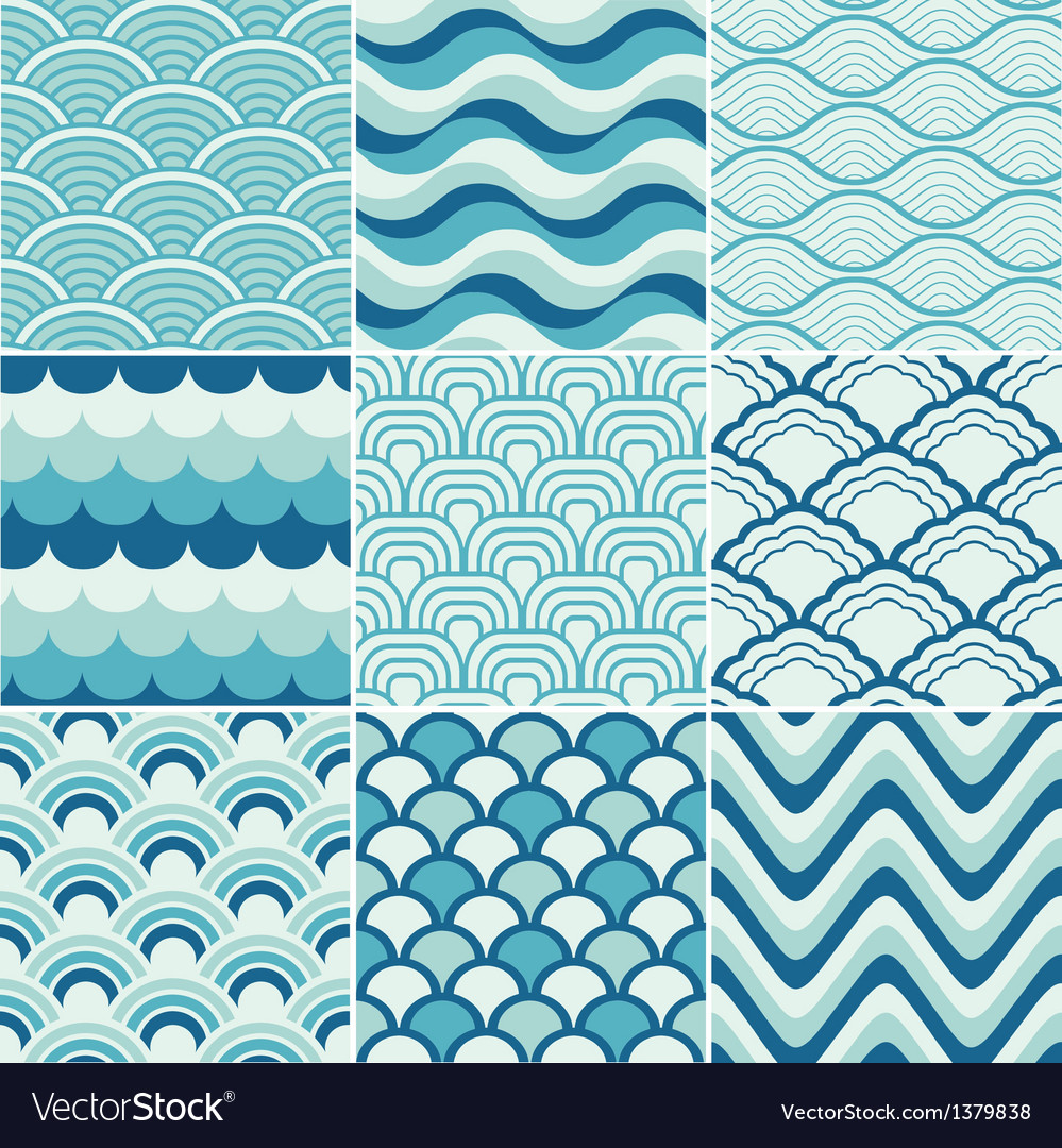 Ocean Wave Pattern Simple Decorating Ideas
