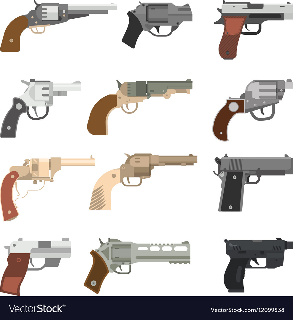 Weapons handguns collection