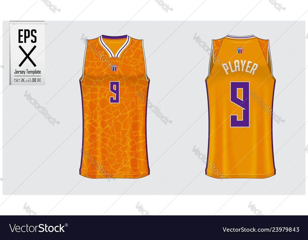 Basketball Uniform Template Design Vector Image