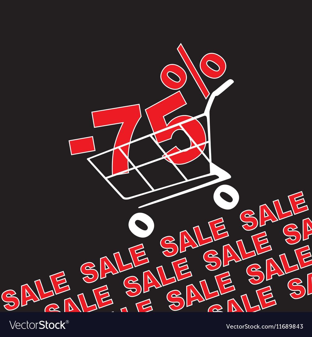 Big sale 75 percentage discount vector image