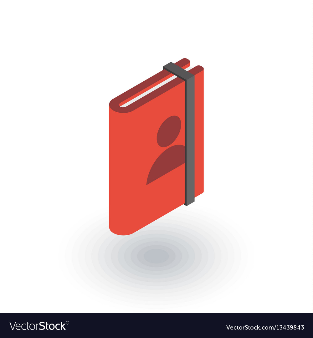Contacts address book isometric flat icon 3d vector image
