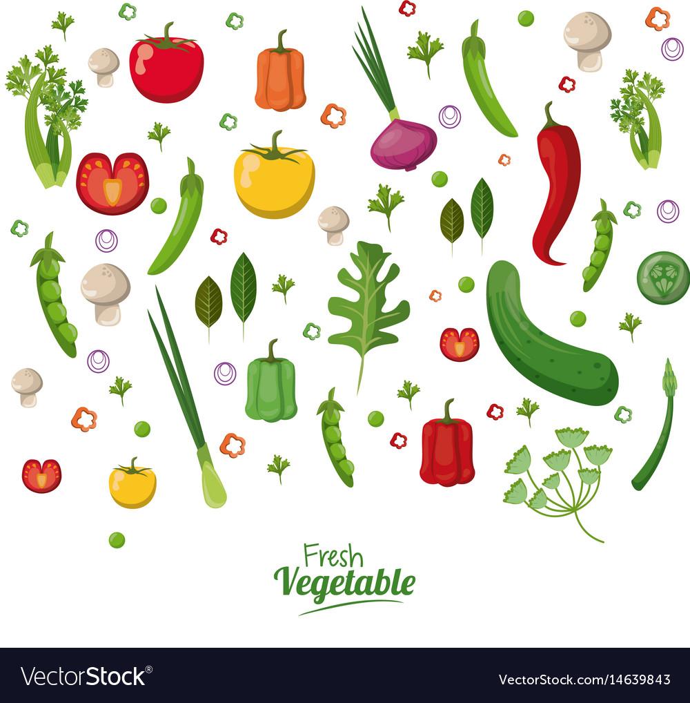 Fresh Vegetables Organic Vegetarian Food Wallpaper