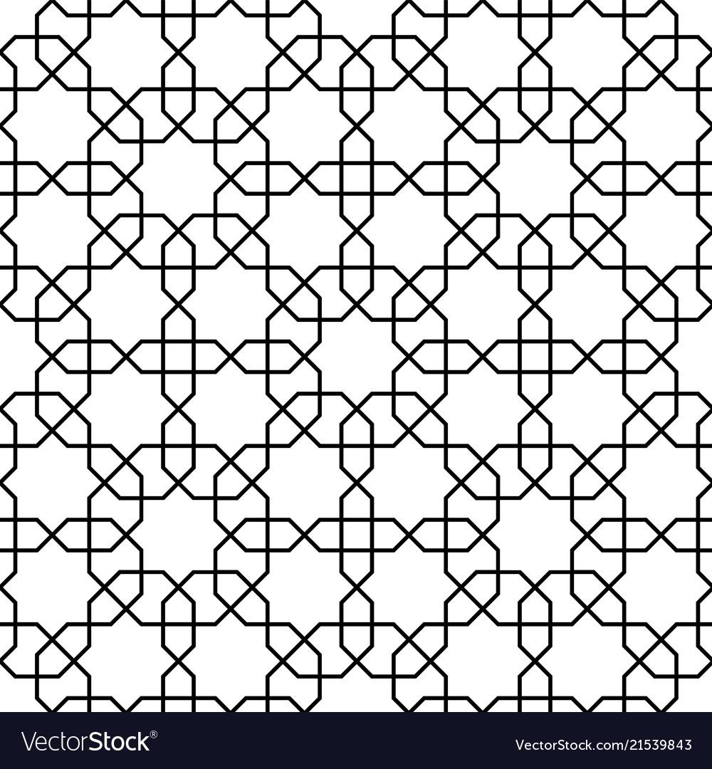 Islamic pattern seamless geometric black