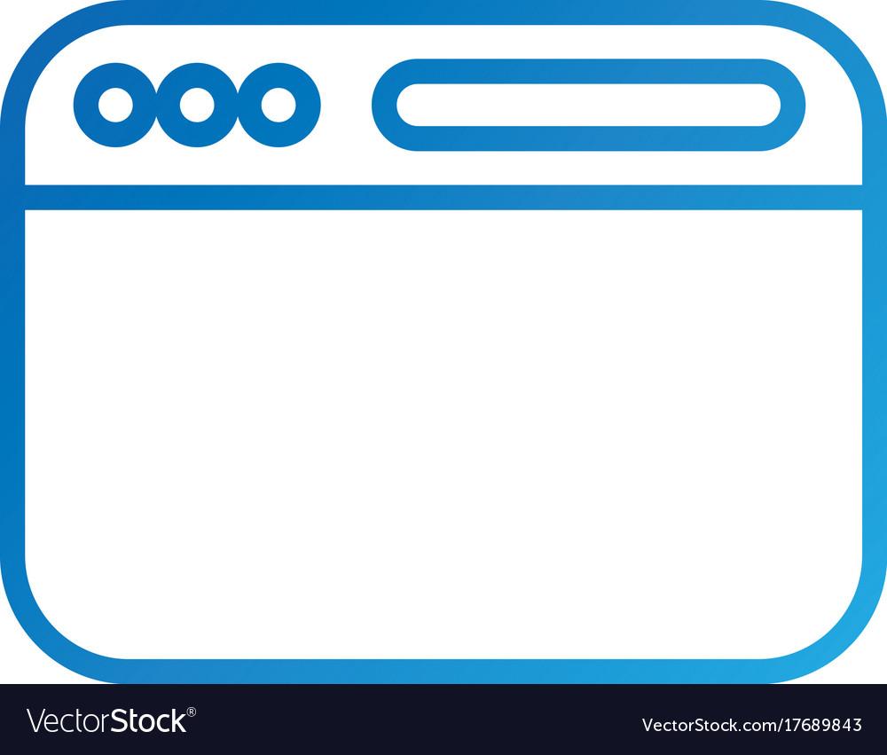 Opened website display bar navigation button vector image