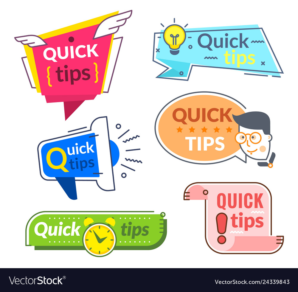 Quick tip labels tips and tricks suggestion