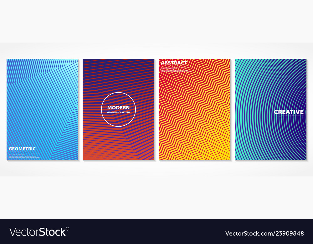 Abstract colorful minimal covers pattern design