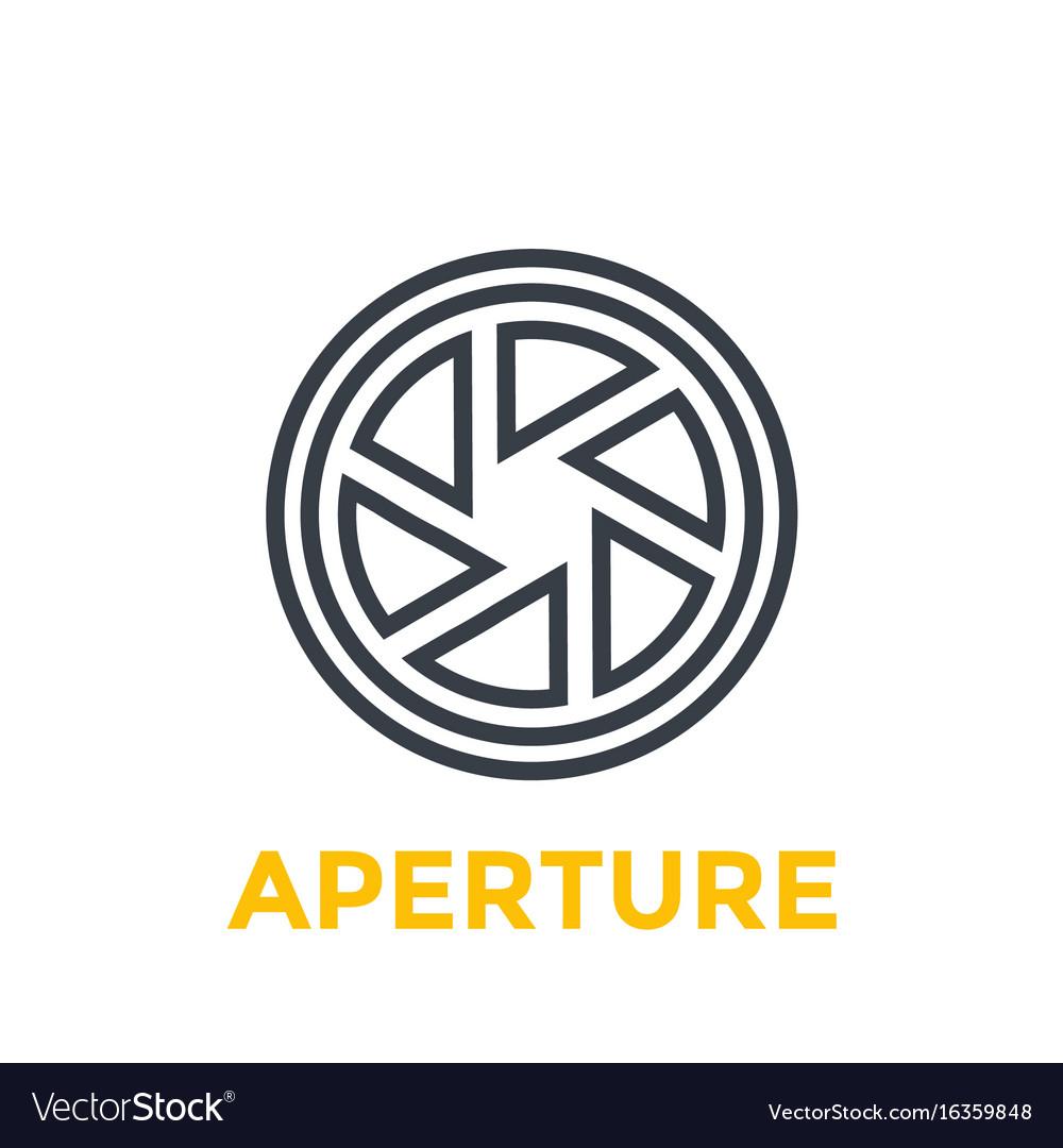 Aperture line icon