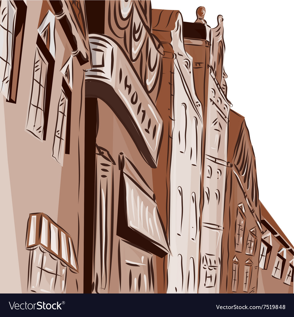Background the city of chocolate color vector image