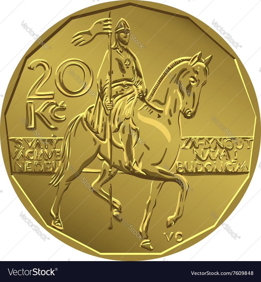 Gold Money twenty czech crones coin