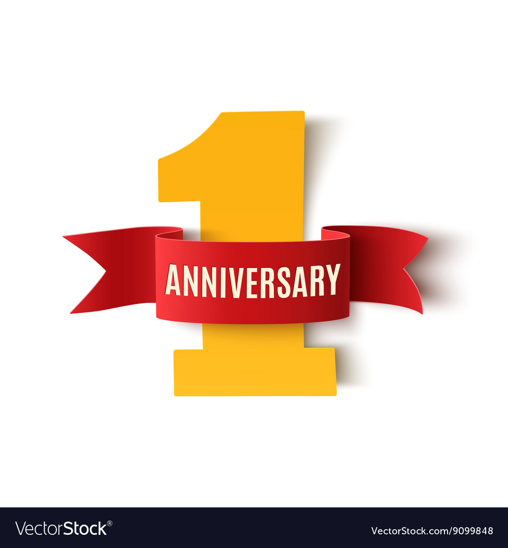 One Year Anniversary Background Royalty Free Vector Image