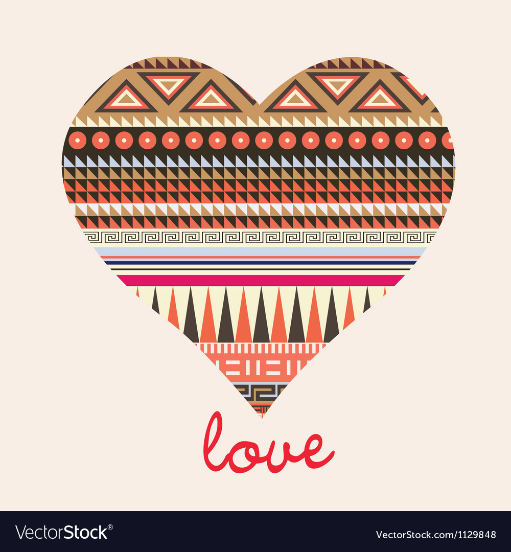 Ornamental heart valentine card