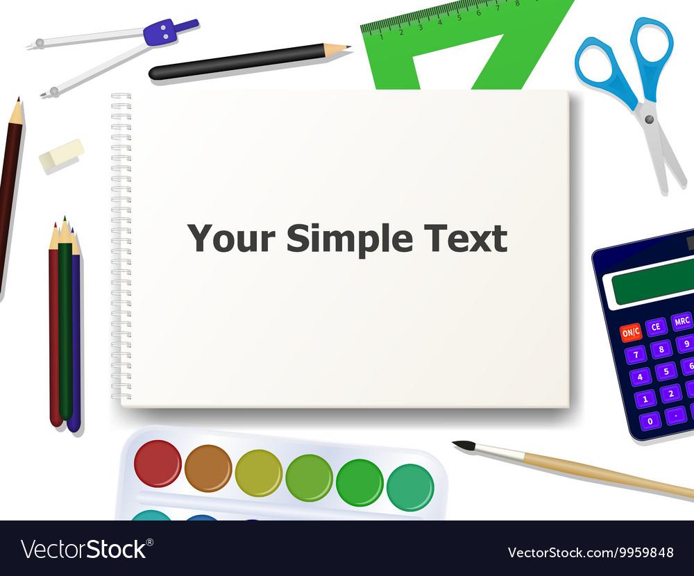 School supplies tools vector image