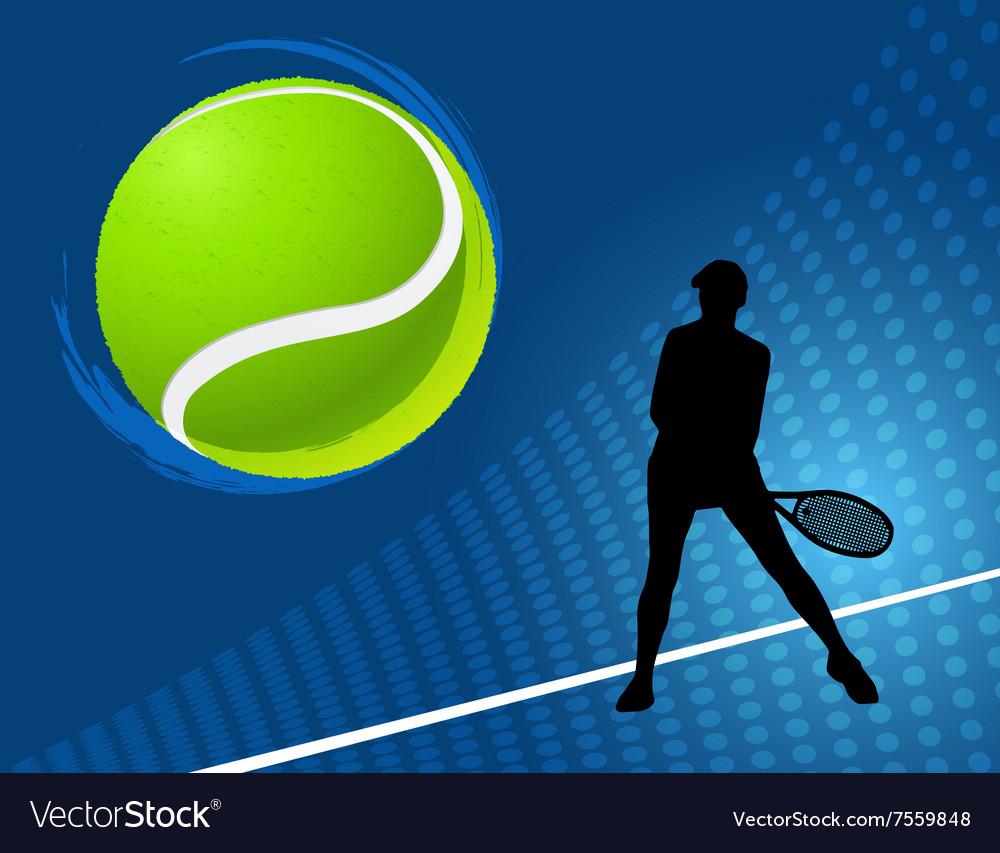 Sport background tennis