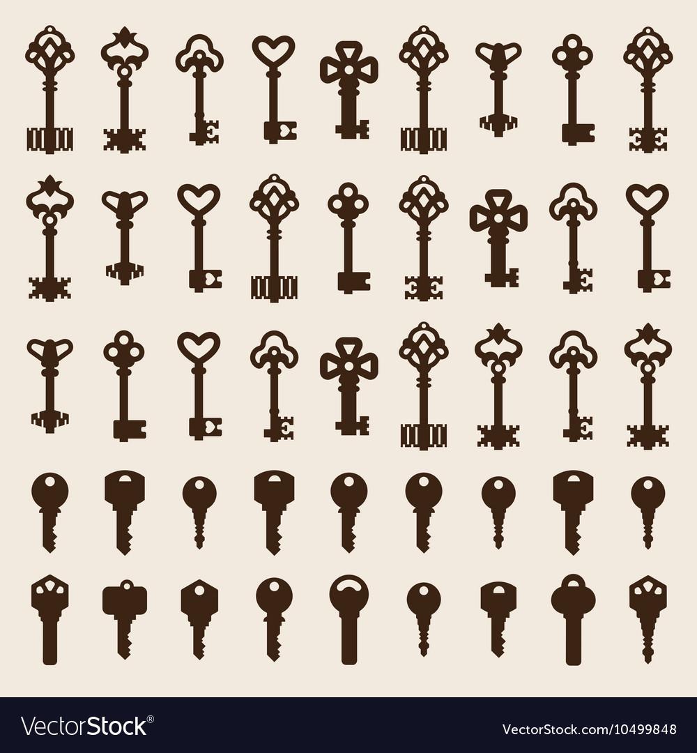 Vintage key isolated icon