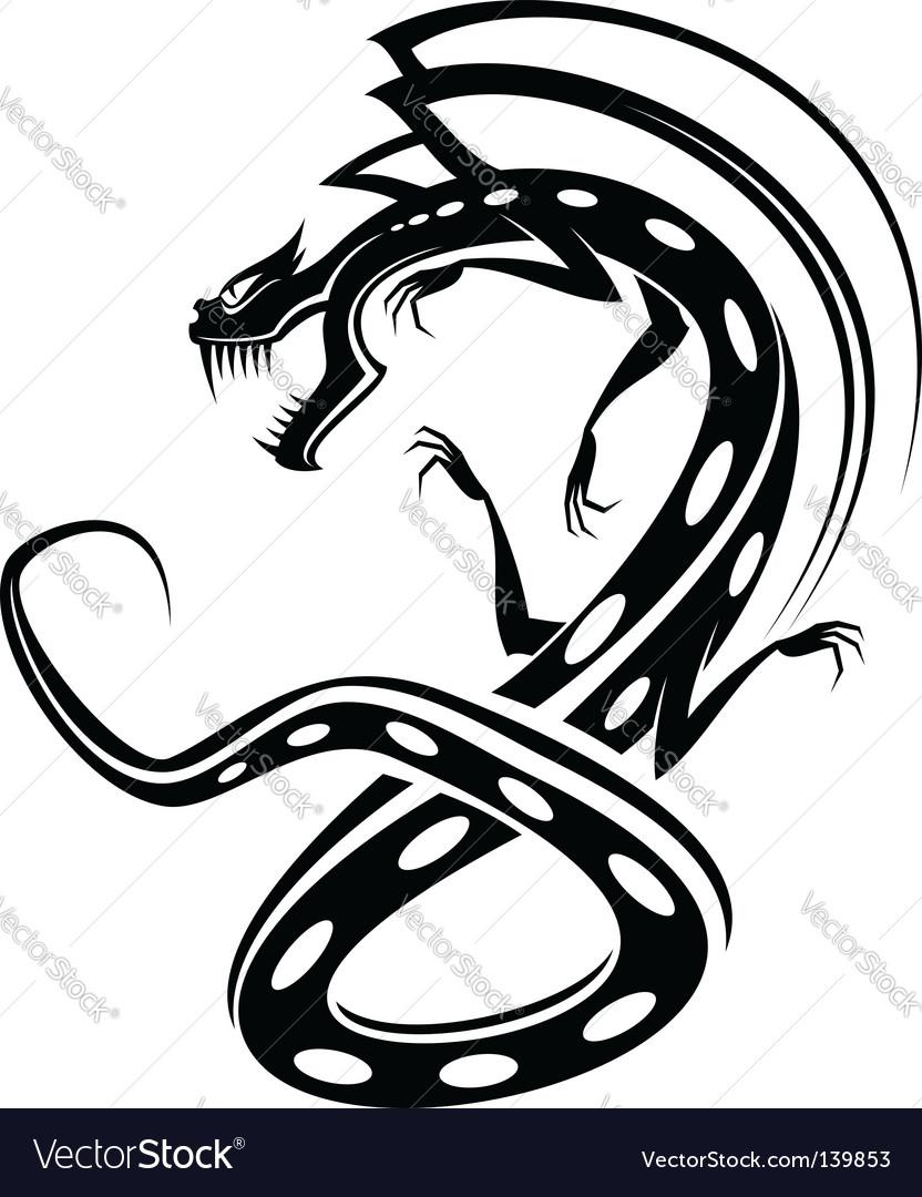 dragon tattoo royalty free vector image vectorstock rh vectorstock com tattoo vector freepik tattoo vector pack