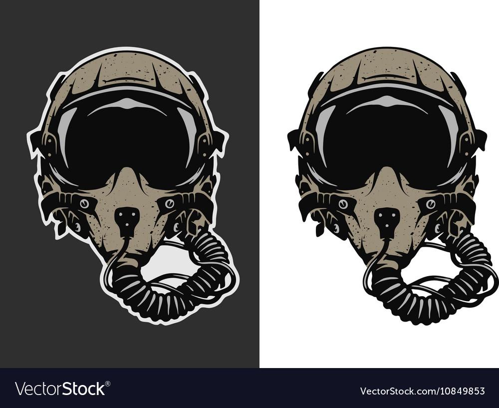 Fighter pilot helmet
