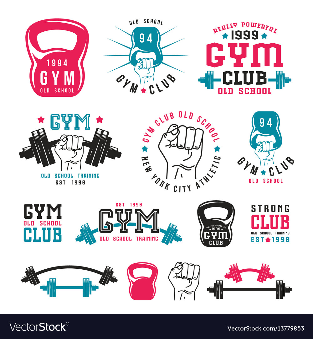 Gym club emblems