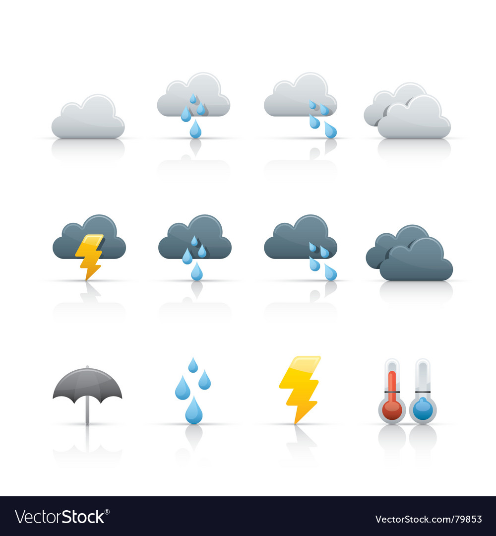 Icon set weather and climate