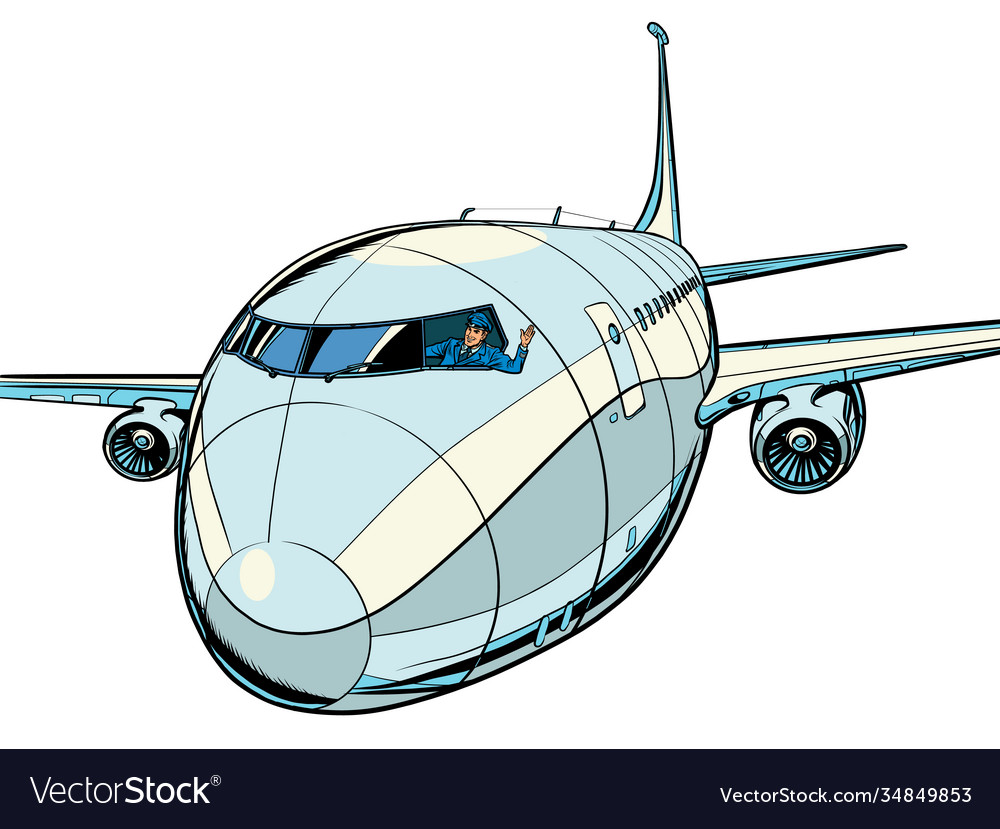 Plane is a passenger liner travel and air