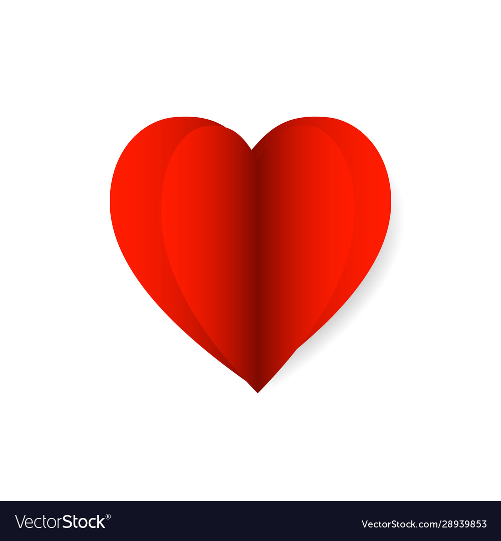 Red paper heart icon