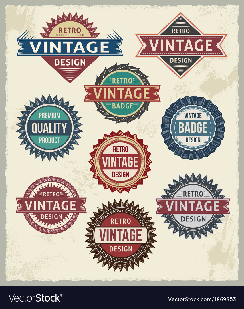 Set of retro vintage badge and label design set