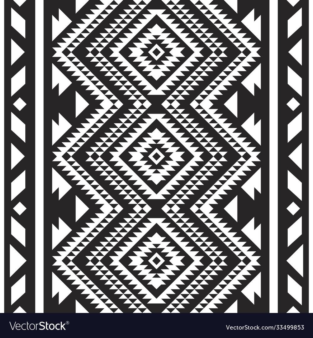 Tribal aztec navajo seamless pattern