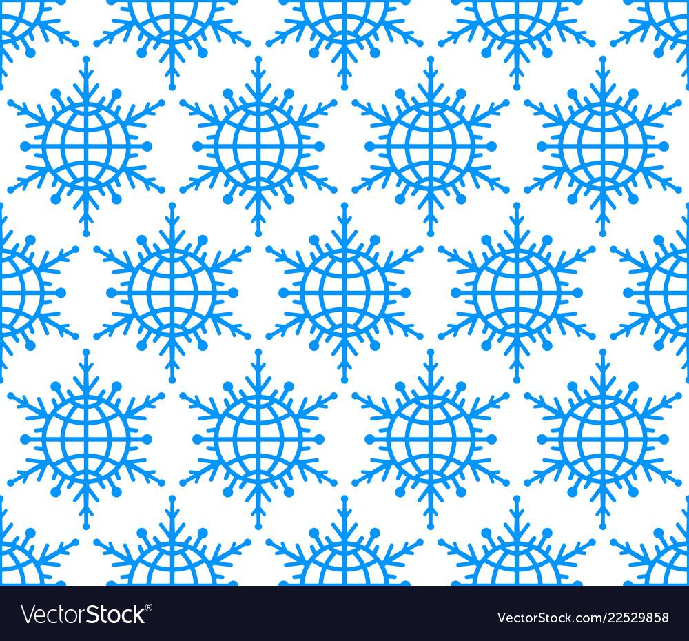 Abstract globe snowflake pattern