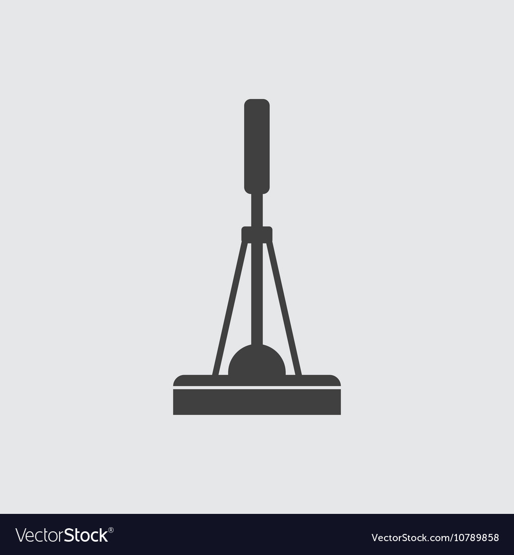 Cleaning mop icon vector image
