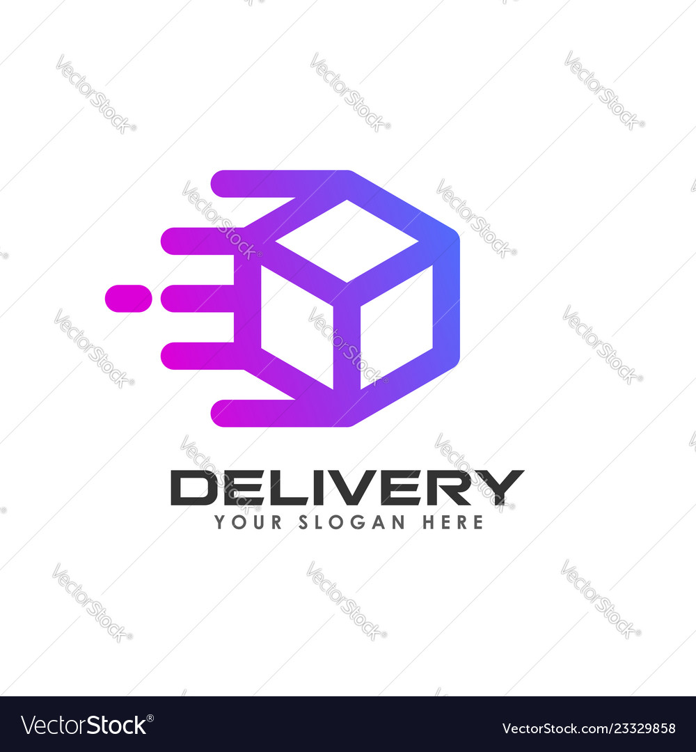Delivery box logo design courier logo design
