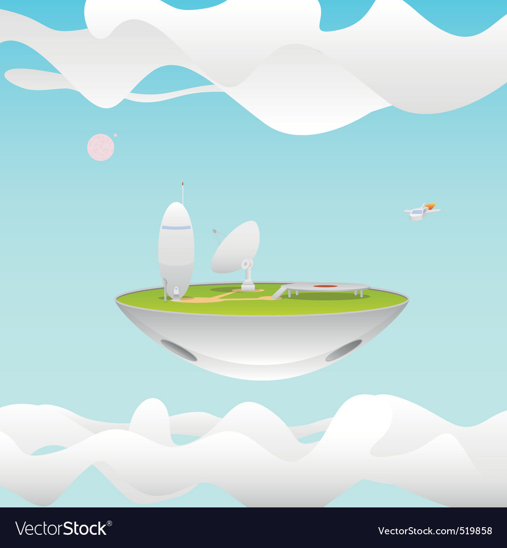 Futuristic research station vector image