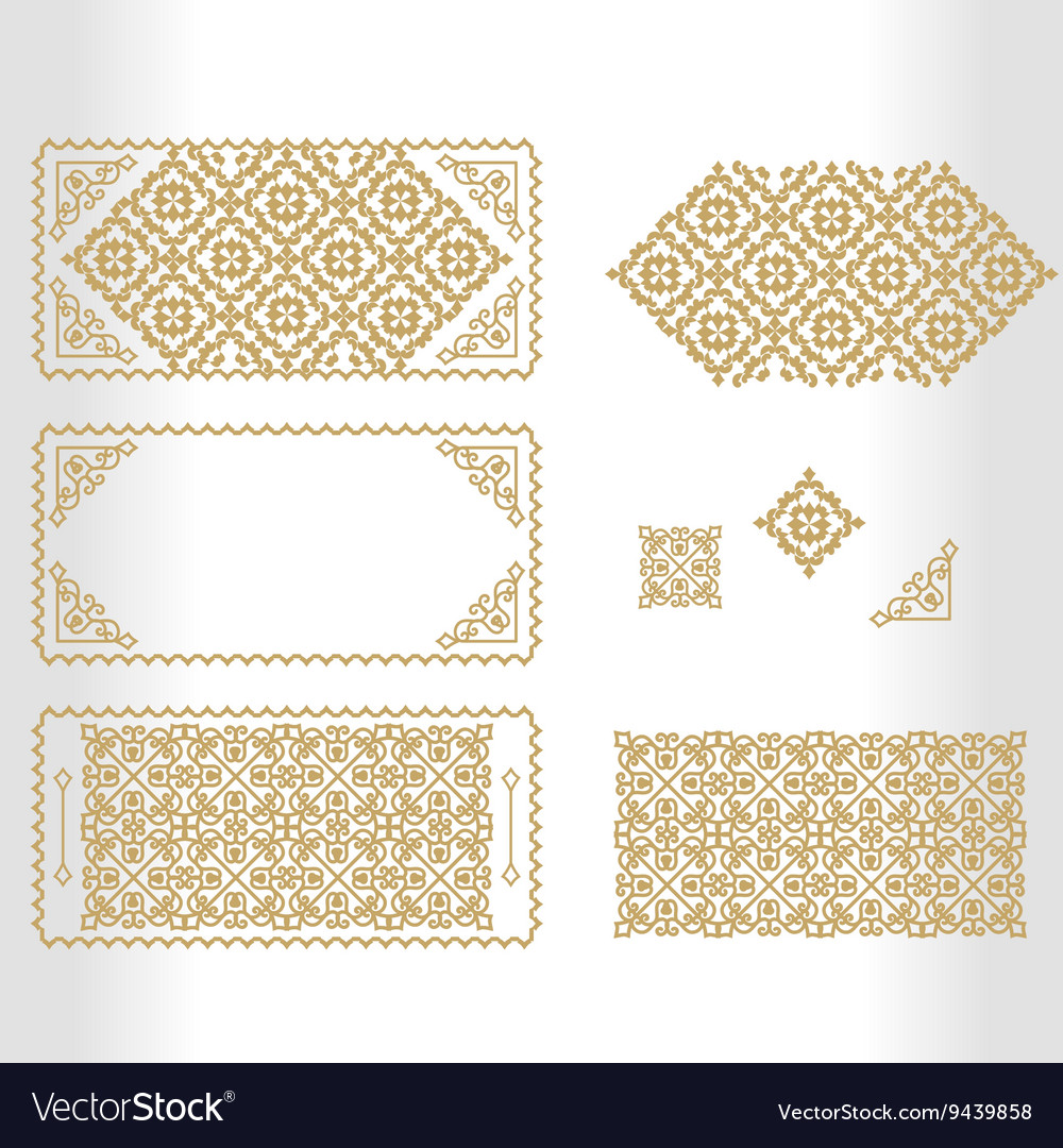 Gold framework with geometrical and