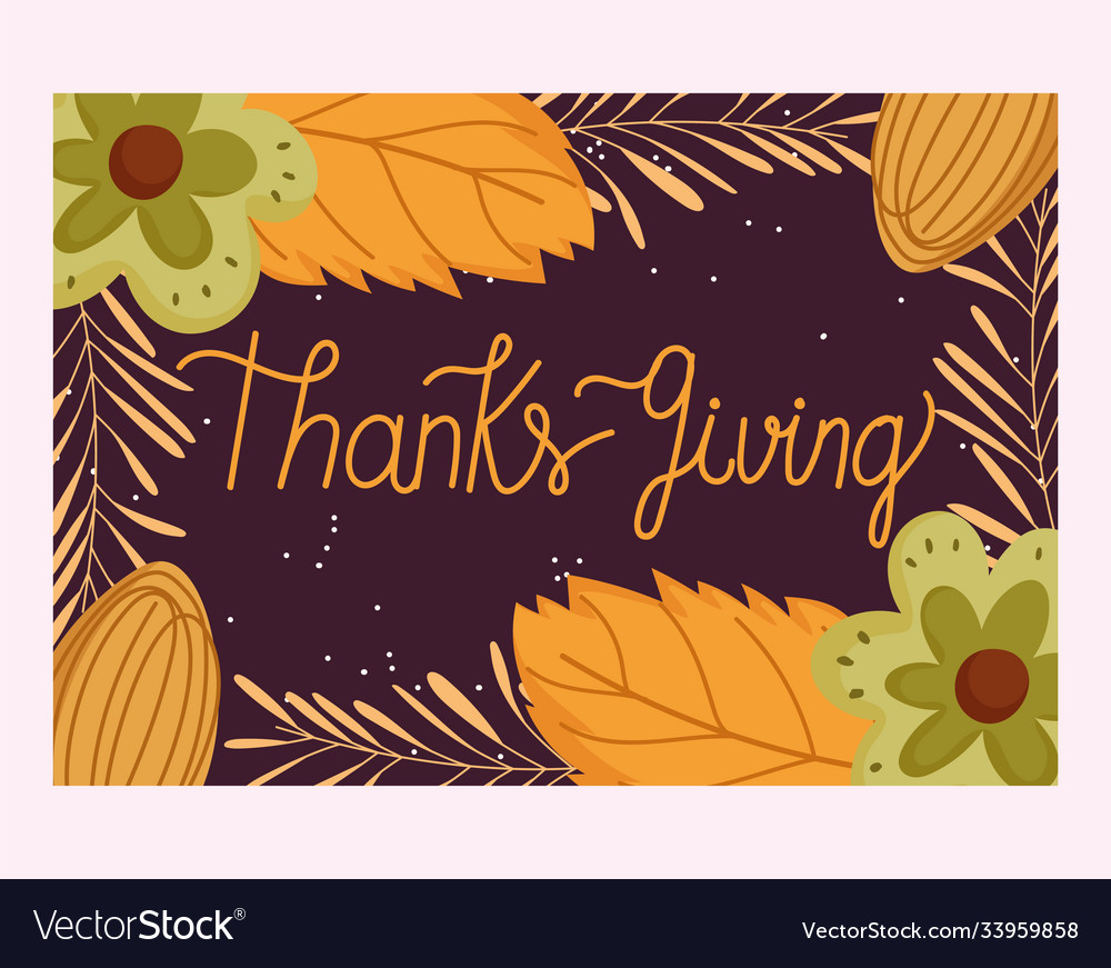 Happy thanksgiving day hand drawn typography