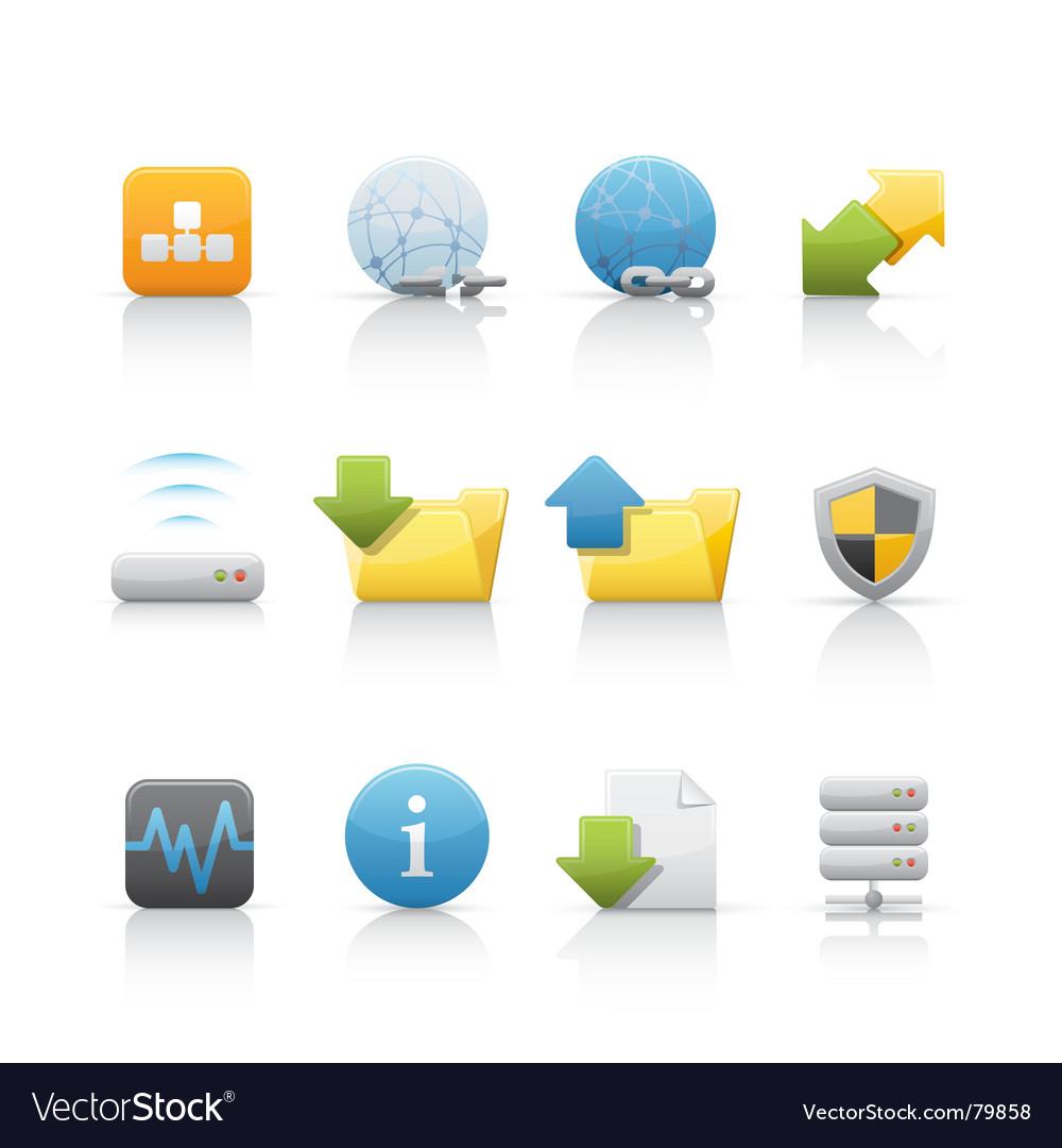 Icon set web and internet