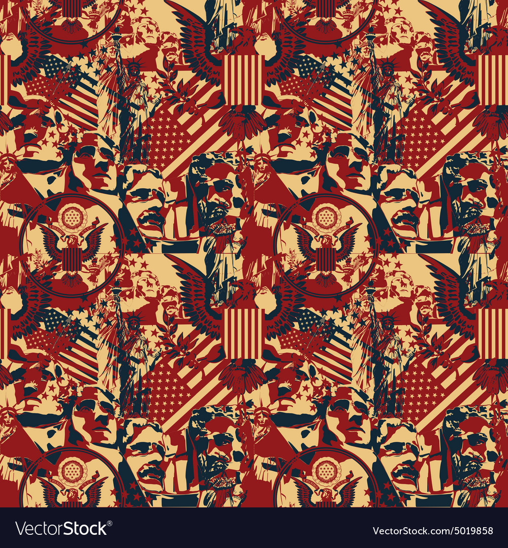 Pattern with symbols of the US