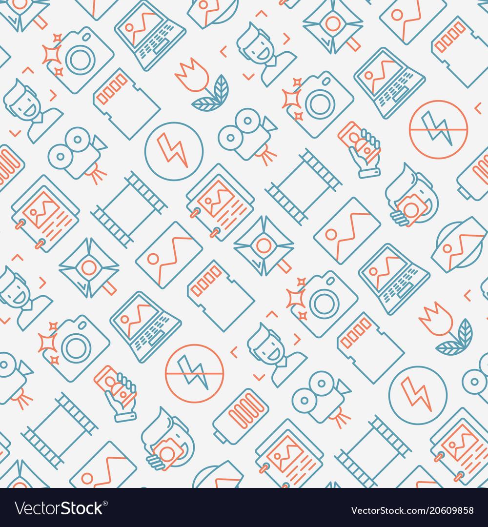 Photography seamless pattern