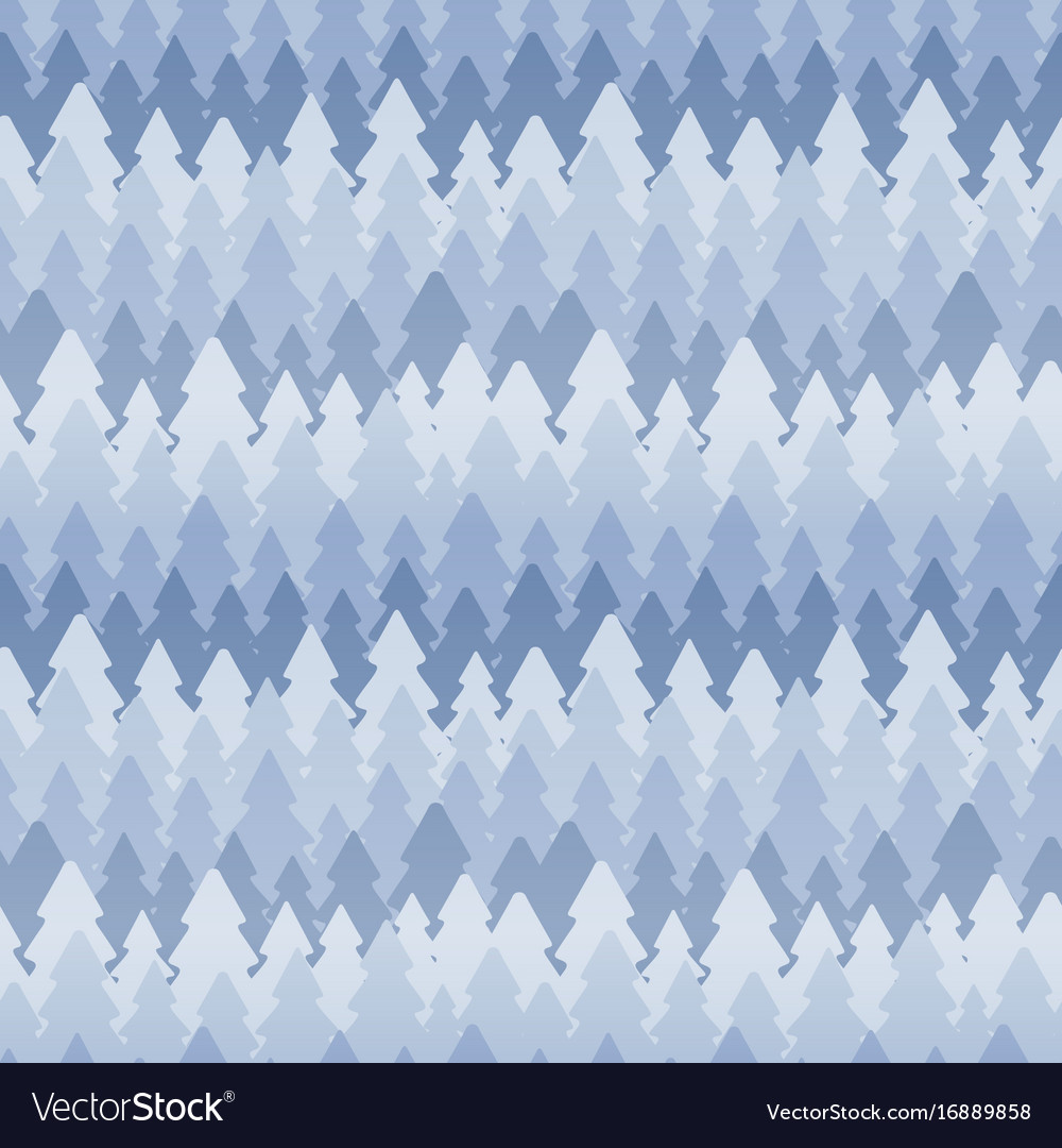 Seamless winter pattern of fir trees