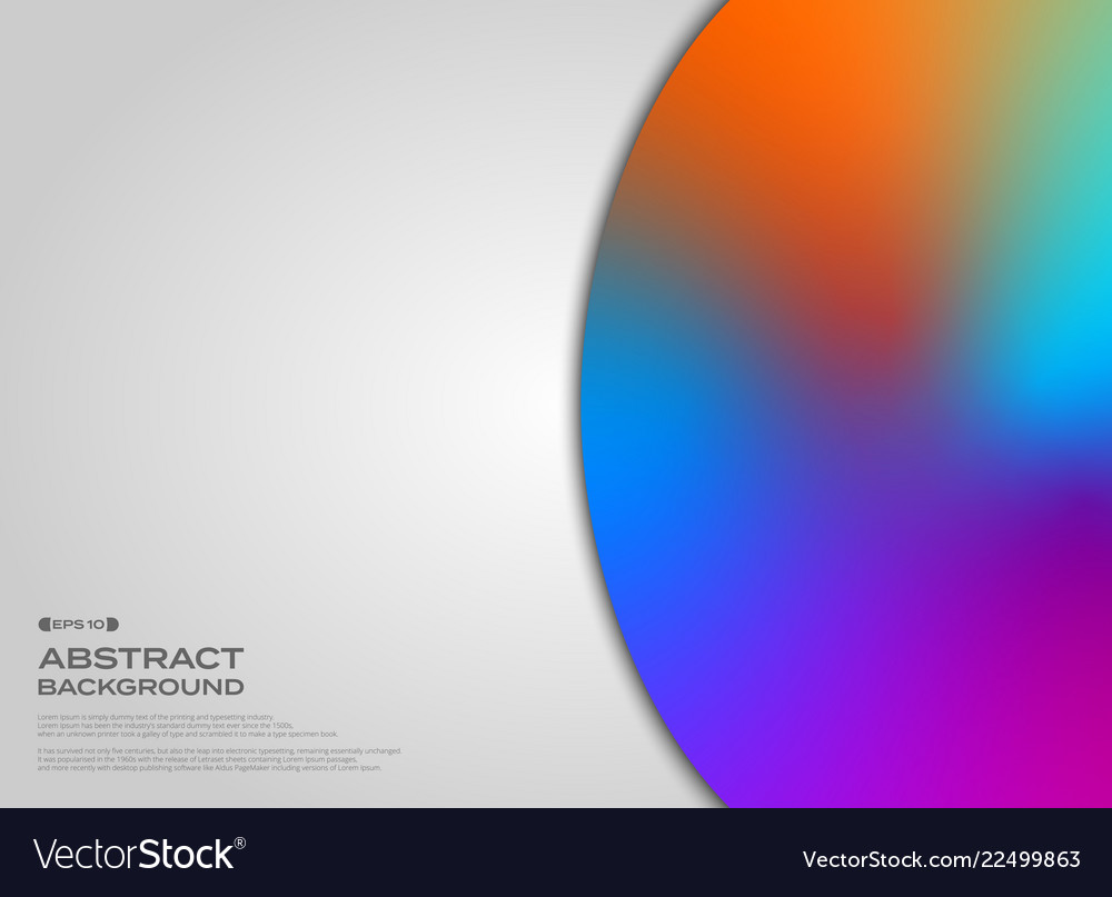 Abstract of fluid colorful circle on clear