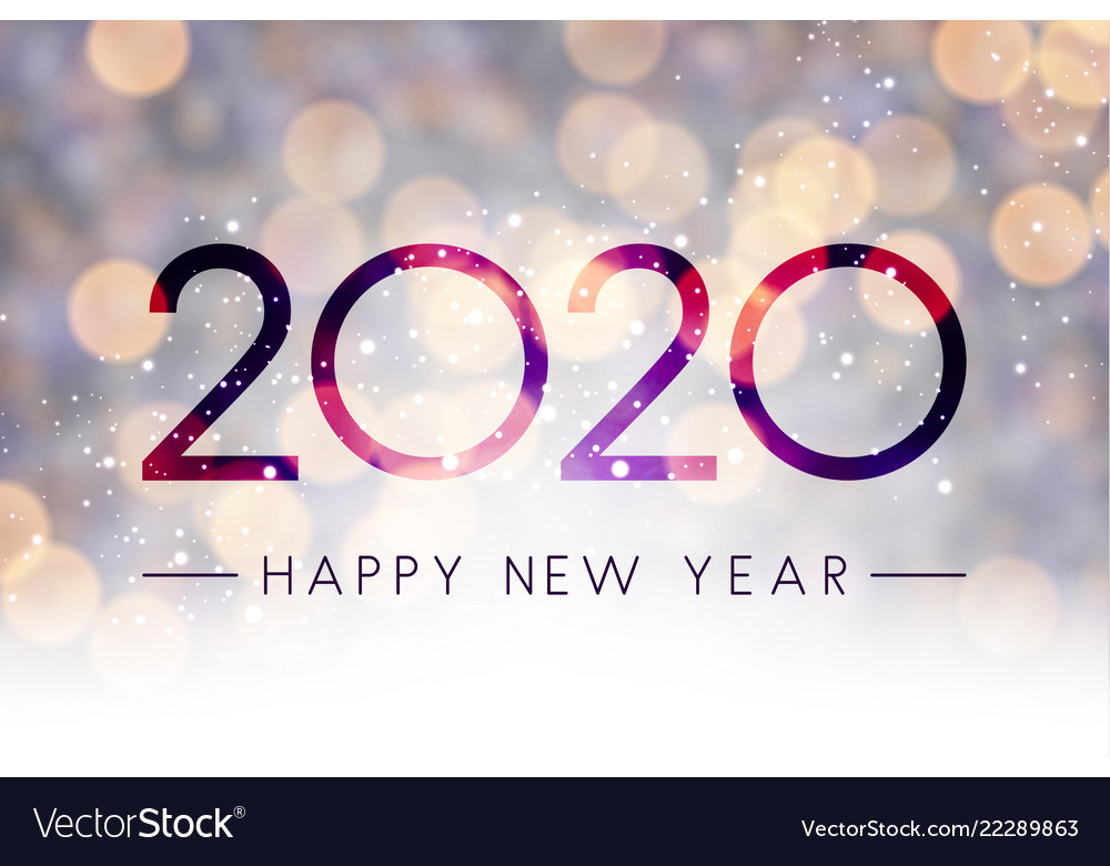 New Year 2020 Background Blurred shiny happy new year 2020 background Vector Image