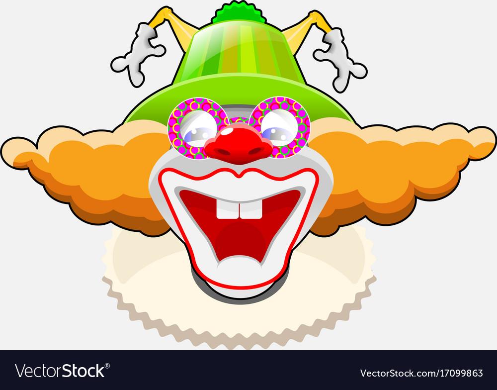 Happy clown eps 10 vector image
