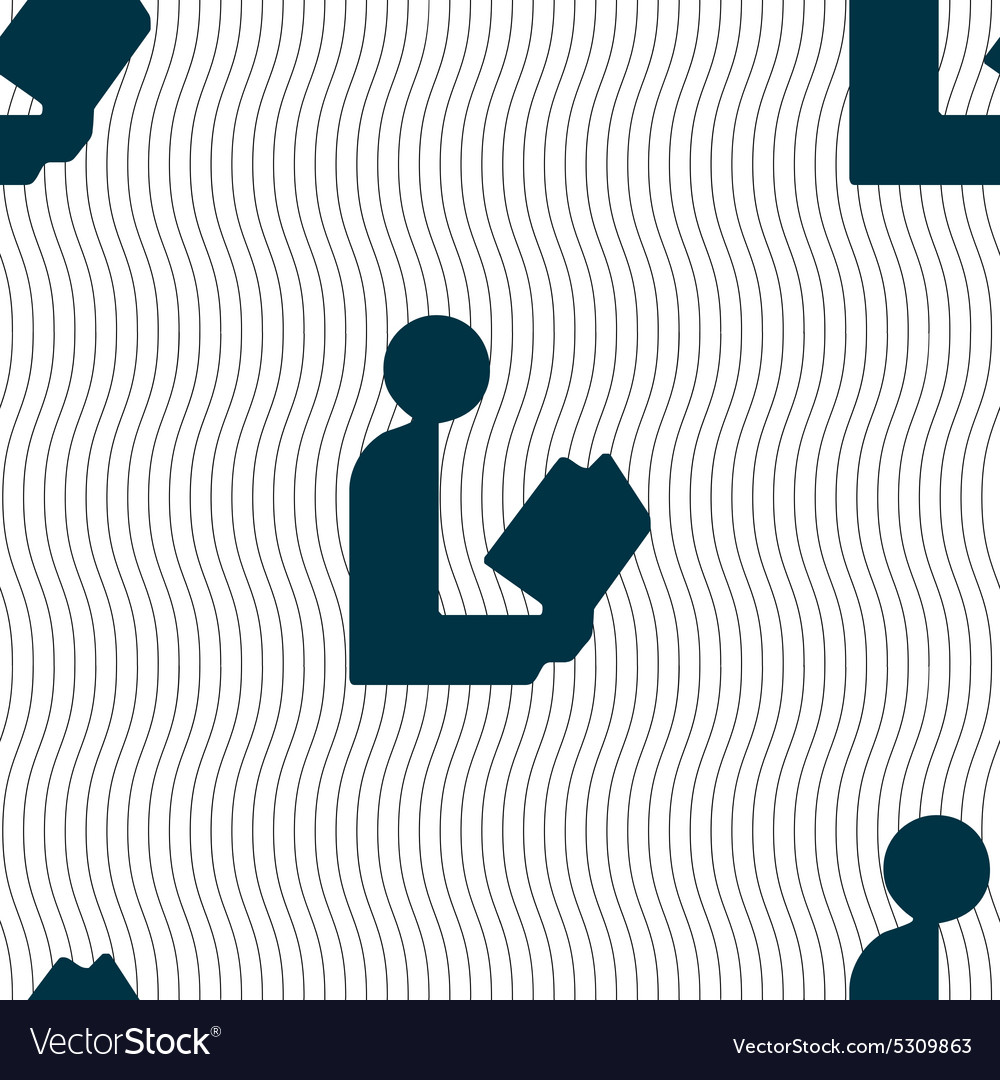 Read a book icon sign Seamless pattern with vector image