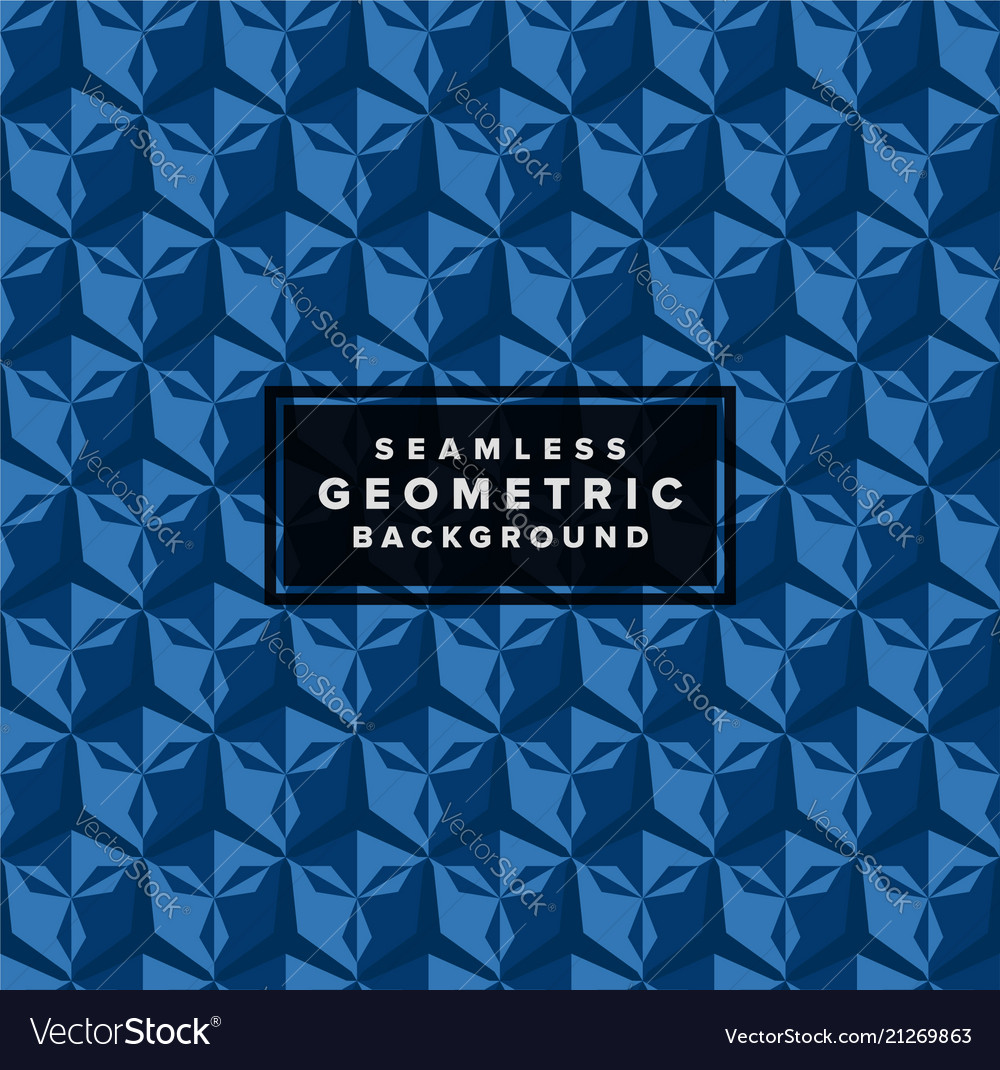 Seamless abstract geometric 3d pattern background