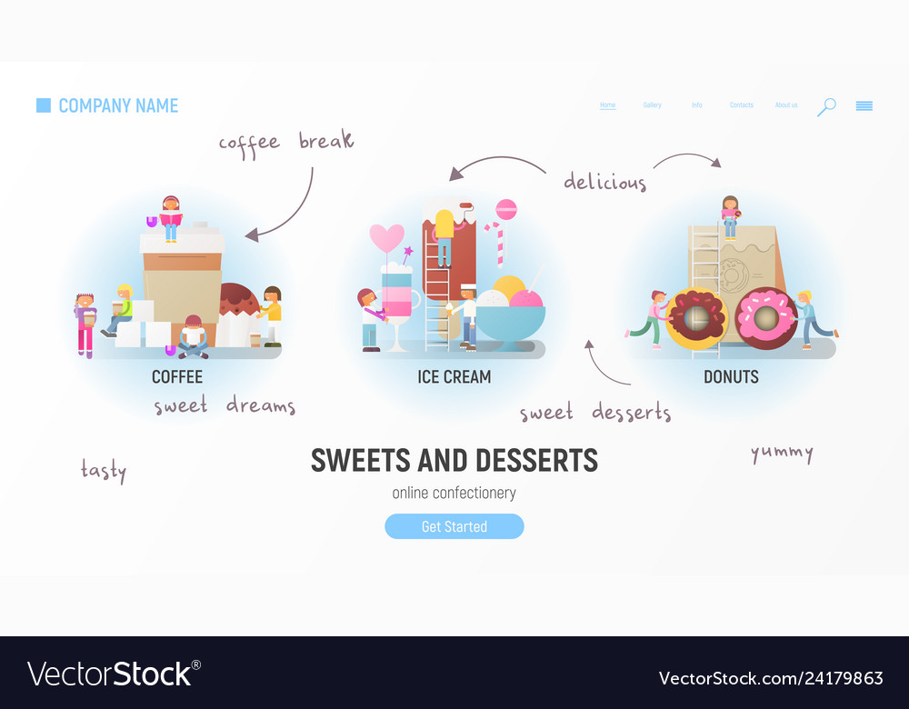 Sweets and desserts web page
